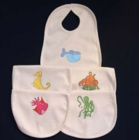 Set of 5 Organic Cotton Bibs