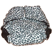 Leopard Print Nappy