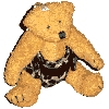 Teddy wearing Nappy Keyring